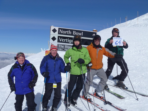 Adler, Norton, Welch, Hall, and Warren skiing