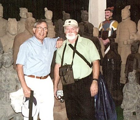 Photo of Steve Hoffman and Charles Lyman in China